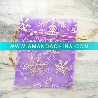 wholesale 7 * 9CM purple snowflake jewelry bags [89] - US$2.40